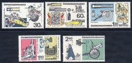 CZECHOSLOVAKIA 1970 Historic Cannons Set MNH / **.  Michel 1946-50 - Czechoslovakia