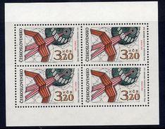 CZECHOSLOVAKIA 1969 UPU Congress Sheetlet MNH / **.  Michel 1903 Kb - Czechoslovakia