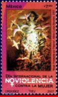 Ref. MX-2563 MEXICO 2007 HEALTH, INTL.DAY AGAINST VIOLENCE, TOWARDS WOMEN, BIRDS, MNH 1V Sc# 2563 - Santé