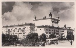UDSSR - Unbekannte Stadt, Bahnhof?, Autobus, Fotokarte Um 193?, Transportspuren - Russland