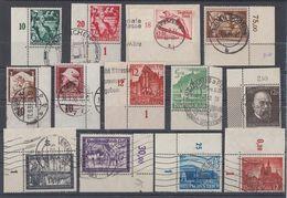 DR Lot 13 Marken Aus 1933-1945 Mit OER, UER Gestempelt - Lots & Kiloware (max. 999 Stück)