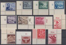DR Lot 12 Marken Aus 1933-1945 Mit OER, UER Postfrisch - Lots & Kiloware (max. 999 Stück)