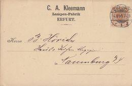 DR Werbekarte C. A. Kleemann Erfurt EF Minr.45 Erfurt 14.6.98 - Deutschland