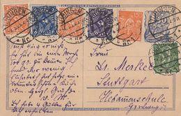DR GS Zfr. Minr.187,189,2x 227,228,230 Tübingen 7.5.23 - Briefe U. Dokumente