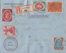 DR R-Brief Mif Minr.107,108,109,110,111 Urach 14.5.20 - Deutschland