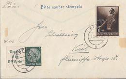 DR Brief Mif Minr.701, Zdr. W84 Eutin 9.2.40 - Briefe U. Dokumente