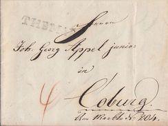 Brief L1 Themar 1.12.1832 Gel. Nach Coburg - Deutschland