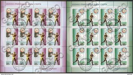 2017-2233-2234 2 M/S's Russia Russland Russie DOSAAF Military And Applied Sports  Mi 2447-2448 Used CTO - 1992-.... Federation