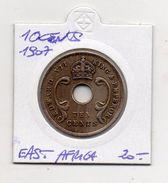 East Africa & Uganda Protectorates - 1907 - 10 Centesimi - Vedi Foto - (MW378) - Monete