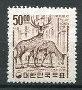 207 COREE SUD 1967 - Yvert 473 Decentre A Gauche - Cerf - Neuf ** (MNH) Sans Trace De Charniere - Corée Du Sud