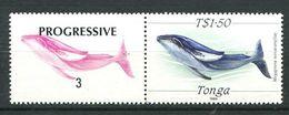 207 TONGA 1989 - Yvert 726 + Vignette - Poisson - Neuf ** (MNH) Sans Trace De Charniere - Tonga (1970-...)