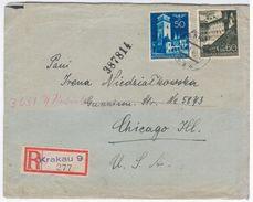 Poland 1940 Krakau Krakow, Sent To Chicago USA United States, San Pedro California, General Government Germany - 1939-44: 2. WK
