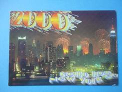 Fireworks Fuochi Artificiali Anno 2000 - New York - Waterfront And Skyline - Manhattan