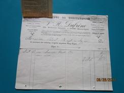 Facture + Déclaration De Versement Postes Et Télégraphes   Vve H. DUFRENE à Digne Bd Gassendi Matériaux De Construction - Francia