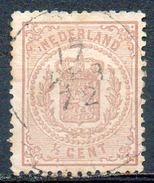 PAYS-BAS - (Royaume) - 1869-71 - N° 13 - 1/2 C. Brun - (Armoiries Nationales) - Periodo 1852 - 1890 (Guglielmo III)