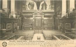 BRUXELLES - Palais De Justice - Salle De La Cour D'assises - Monuments, édifices
