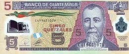 GUATEMALA 5 QUETZALES 2010 (2011) P-122a UNC [GT122a] - Guatemala