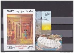 Stamps EGYPT 2002 SC-1828 1830 ALEXANDRIA  LIBRARY  MNH  */* - Egypt