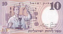 ISRAEL 10 LIROT 1958 PICK 32d UNC - Israël