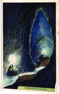 6 Cards Complete Litho Chromo Set C1900 PUB Crême LIEBIG CREME - German Text  - Grotte Höle Beilstein  JAMA Bouheur - Liebig