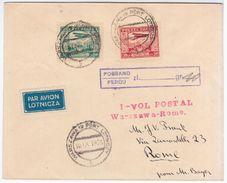 Poland Polska 1928 Warszawa-Rome Roma Italy Italia, Aviation Plane - 1919-1939 Repubblica