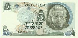 ISRAEL 5 LIROT 1968 PICK 34b UNC - Israel