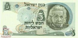 ISRAEL 5 LIROT 1968 PICK 34b UNC - Israël
