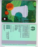 China 2017 Starbucks Cherry Coffee Recycled Material MSR Card Used - China
