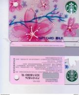 2017 China Starbucks Card Mini Sakura SVC Gift Card RMB 200 - Chine