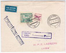 Poland Polska 1929 Warszawa-Lwow Ukraine, Aviation Plane - 1919-1939 Repubblica