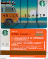 Starbucks China 2017 Hello Summer Leisurely Holiday Gift Card RMB100 - China