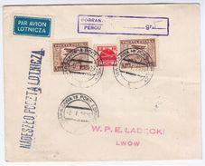 Poland Polska 1929 Warszawa, Aviation Plane, Lwow Lviv Ukraine - 1919-1939 Repubblica