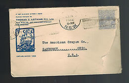 1922 Melbourne  Australia Cover To USA - Postmark Collection