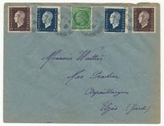 FRANCE - Enveloppe - Affranchissement Composé 4xDulac 1xCérès - 1945 - 1944-45 Marianne Of Dulac
