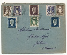 FRANCE - Enveloppe - Affranchissement Composé 3xDulac 5xChaînes Brisées - 1945 - 1944-45 Marianne Of Dulac