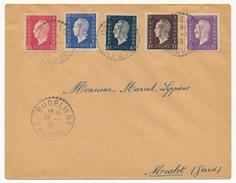 FRANCE - Enveloppe - Affranchissement Composé 5xDulac - Budelière (Creuse) - 18/01/1946 - 1944-45 Marianne De Dulac