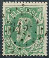 N° 30, TB Obl Centrale 'LP342' Stavelot, Nipa +4? - 1869-1883 Léopold II