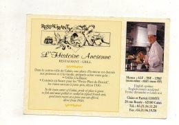 (62) CALAIS - Restaurant L'Histoire Ancienne-Restaurant Grill - Calais