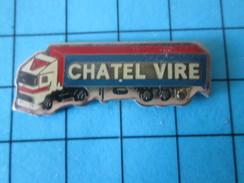 Pin316c Pin´s Pins / Beau Et Rare : TRANSPORTS / CAMION SEMI-REMORQUE CHATEL VIRE - Trasporti