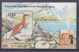 65-316 //CUBA - 1983  STAMPS EXHIBITION  TEMBAL'83  BASEL   Mi  Bl. 77 O - Blocchi & Foglietti