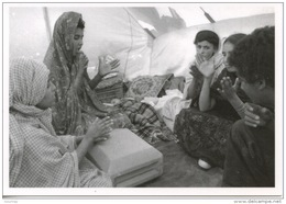 """Sahara Occidental : 1786/7 """"choeurs"""" Camp Réfugiés Sahraoui Mai 1976  J´réfia Gonfreville 76  Jumelées Photo Bloncourt - Sahara Occidental"""