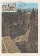Carte Maximum 1er Jour   Abbaye  De   CHARLIEU    1972 - Cartes-Maximum