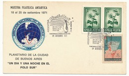 "ARGENTINE - Carte Postale 1971 ""Muestra Filatelica Antartica"" - Timbres"