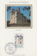 Carte Maximum  1er   Jour    Chateau  De   SEDIERES     CLERGOUX    1988 - Cartes-Maximum