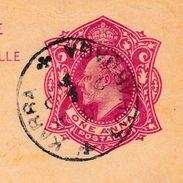 Carte Postale Karra British India Stamp Edward VII One Ana Liège Belgique Entier Postal - Inde (...-1947)