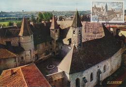 Carte  Maximum  1er  Jour     Abbaye   De  CHARLIEU   1977 - Cartes-Maximum