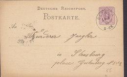 Germany Deutsche Reichspost Postal Stationery Ganzsache 5 Pfe. BITSCH Moselle Lothring. 1878 STRASSBOURG Elsass (2 Scans - Deutschland