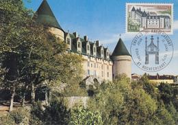 Carte  Maximum  1er  Jour   Chateau  De  ROCHECHOUART    1975 - Cartes-Maximum