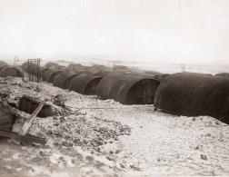 Belgique Ou France? WWI Baraquement Nissen Huts Front De L'Ouest Ancienne Photo 1914-1918 - War, Military