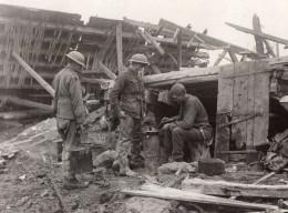 France Thilloy Soldat Preparation Du Repas Front De L'Ouest Ancienne Photo 1914-1918 - War, Military